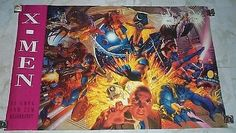1994 Marvel 34 x 22 X-Men poster 174: Gambit/Wolverine/Psylocke/Sabert – Supervator Rare Vintage Comic Posters and Art: Search Our Catalog!