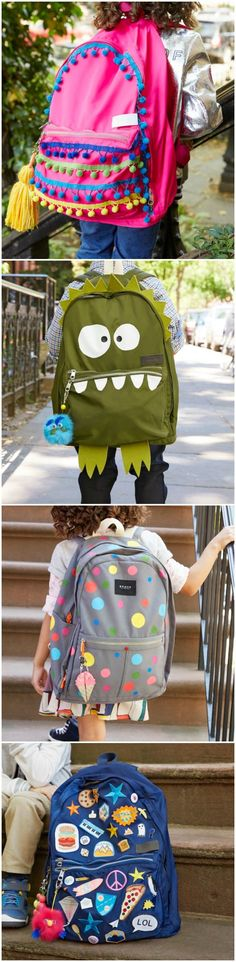 Why buy a new backpack - when you can get creative and makeover the one you…