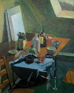 Second image of studio at 2 Villa Niel. Be Still, Inspiration, Still Life, Still Life Art, Painting, Art, Life Art, Interior Paintings