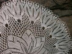 serweta na drutach knitting doilies