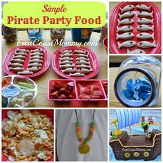 Jake and the Neverland Pirates Party Food... fun and simple.  I love the sandwiches!