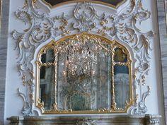 Rococo mirror in Schloss Ludwigsburg -  #Baden Wurttemberg #Germany