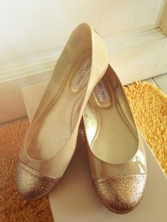 Jimmy Choo golden flats