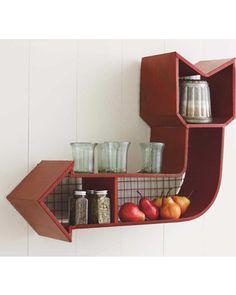 Display your favorite things on this rusitc wall shelf. Get it here: http://www.bhg.com/shop/vivaterra-retro-arrow-shelf-p5098e8c0e4b042c857cdbf3a.html