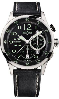 Vulcain Aviator Instrument Chronograph Mens Watch Model: 590263A07.BFC002