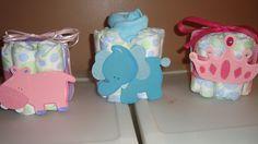 Diaper cakes baby shower centerpieces princess crown hippo elephant. $9.99, via Etsy.