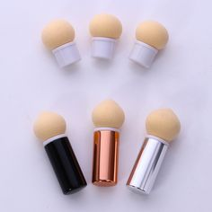 Replaceable Sponge Head Gradient Shading Pen Powder Brush Sharp Round Heads Short Handle Manicure Nail Art. Click visit to buy #Nail #Tool #NailTool