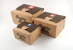 Grubby Mitts (Pick Your Own) by Elliot Hindes, via Behance Rather odd name for this cute #food #packaging don't you think : ) PD