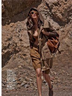 Catherine McNeil Sports Safari Style for Vogue Russia by Mariano Vivanco