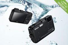 Câmera Nikon Coolpix AW100 à prova d'água com 16 Mpx, por apenas R$1199,00
