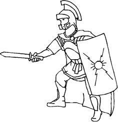 Coloring Centurion Roman Soldier Picture Roman Soldiers