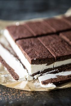 Tiramisu Brownie Ice Cream Sandwich Bars   halfbakedharvest.com @hbharvest