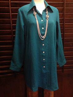 Fridaze  - 100% linen wrinkle resistant tunic  - $125