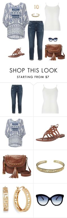 """""""Denim"""" by mistigarrison ❤ liked on Polyvore featuring Dorothy Perkins, DailyLook, Cole Haan, FOSSIL, Zara Taylor, Charter Club and Italia Independent"""