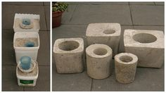concrete planters DIY. I want to make these in miniature.