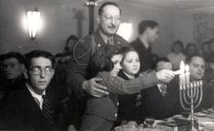 Hanukkah in the DP camp – Fuerstenfeldbruck, Germany, 1945.