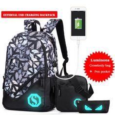 E SUPPION Fashion Unisex Cartoon Drawstring Wild Bag Travel Backpack Bundle School Pocket