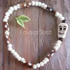 Love is a Seed  Smiling Skull Bracelet by LoveisaSeed on Etsy, $18.00