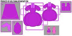 PB 'Wizard Battle' cosplay dress design draft by Hollitaima.deviantart.com on @deviantART    Pattern