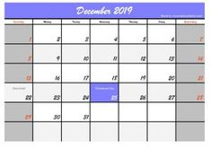 December 2019 Calendar JPG and PDF Design, Below are five calendar templates in December we only differentiate headers and sign of holiday days. Holiday Calendar, 2019 Calendar, Holiday Day, Christmas Holidays, Make Your Own Calendar, Can Plan, A4 Paper, Header, December