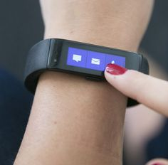 You can use the Microsoft band to see calls, texts and tweet/Facebook notifications directly on the display.