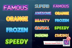 Illustrator Graphic Styles 12 by @Graphicsauthor
