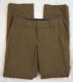 Banana Republic Contoured Fit Wool Stretch Brown Dress Pants Size 4 (S8#1264) #BananaRepublic #DressPants Denim Branding, Brown Dress, Big Star, Talbots, Dress Pants, Stretches, Banana Republic, Casual Shorts, Pants For Women