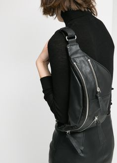 Faux leather bum bag