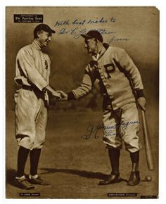 Ty Cobb And Honus Wagner, 1880 by Leopold Morse Goulston Baseball Collection Pittsburgh Sports, Pittsburgh Pirates, Baseball Players, Baseball Cards, Mlb, Baseball Shoes, Baseball Stuff, Baseball Clothes, Pirates Baseball