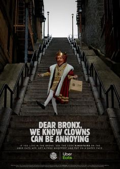 The Bronx Gets Free Whoppers for Tolerating 'Joker Stairs' – Adweek Ads Creative, Creative Words, Joker, Mcdonalds, Burger King, One Step Beyond, Clever Advertising, Viral Marketing, Marketing News