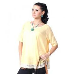 ECHELLE  MOLLY KUNING  Rp 134,900.00  ll www.fashionbiz.co.id Tunic Tops, Women, Fashion, Women's, La Mode, Fashion Illustrations, Fashion Models