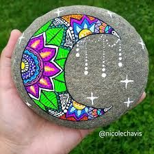 Image result for mandala rock painting