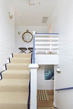 Bay Head Beach Bungalow || Blue Banister & White Stairs || Chango & Co.