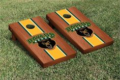 Baylor Bears Rosewood Stained Cornhole Game Set // Could use this all summer, plus at all fall for tailgating!