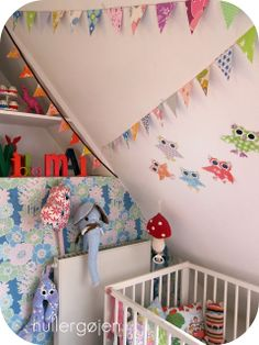 use paper garlands and flags to give color