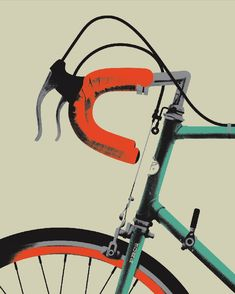 bicycle art, cool illustrator process
