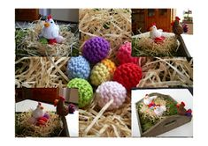 hen and egg(max 12 sts. very tiny! Chicken Pattern, Hens And Chicks, Easter Crochet, Projects To Try, Homemade, Drawings, Inspiration, Patterns, Amigurumi
