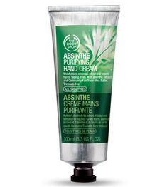 Absinthe Purifying Hand Cream - A pure sensation for hands. This ingenious everyday cream with absinthe extract moisturizes hands and leaves them feeling soft and super-fresh. The Body Shop, Absinthe, Perfume, Hand Care, Hand Lotion, Fragrance Parfum, Beauty Essentials, Shea Butter, Body Care