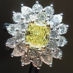 Fancy Intense Yellow diamond | Loose Colored diamonds | Canary diamonds