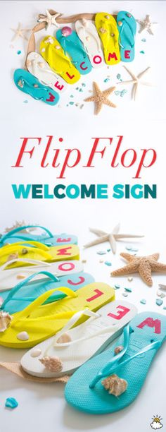 Flip-Flop Welcome Sign Is The Perfect Summertime Project