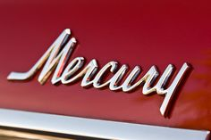 Chromeography.com Car Badges, Car Logos, Vintage Type, Vintage Cars, Mercury Logo, Car Lettering, 3d Typography, Mercury Motors, Company Badge