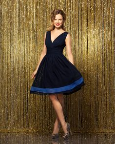 Brides: A Playful, Navy Blue Bridesmaid Dress by Wtoo