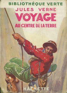 Pierre Dehay - Voyage au centre de la Terre, Jules Verne, Hachette Bibliothèque verte à jaquette 237 (c)1923 1954. cartonnage avec jaquette illustrée et Illus intérieures.