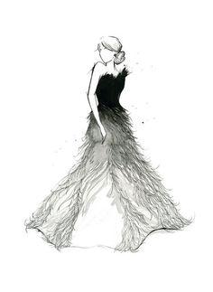 This reminds me of Katniss' Mockingjay dress.