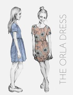 Looking for a free dress sewing pattern? The Orla dress from French Navy is perfect, read sewing pattern reviews here!