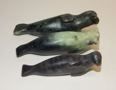 A personal favorite from my Etsy shop https://www.etsy.com/ca/listing/493889513/inuit-eskimo-serpentine-carvings-of