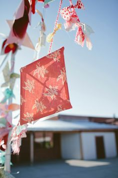 patterned fabric DIY garland // photo by Shari + Mike Photographers
