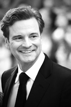 ACTORS IN BLACK AND WHITE.  Colin Firth.