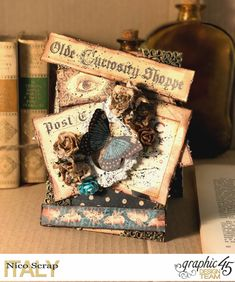 Curiosity card   Olde Curiosity Shoppe   photo 1   by Nico Scrap  Product by Graphic 45.