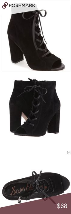 97b20717c144b Sam Edelman Black Suede leather sandals Brand new with box. Price is firm.  No